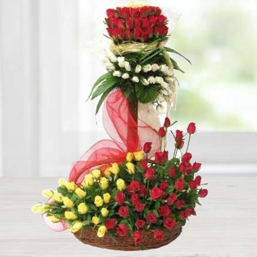 Stately Arrangement of Illustrious Roses