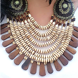 Beautiful Display of Womens Delight Multi Line Neck Piece
