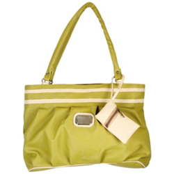 Showy Ladies Handbag from Murcia in Green Colour