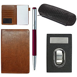 Elegant Combo of Visiting Card Holder, Multipurpose Passport Holder and 1 Parker Vector Pen with Pen Case