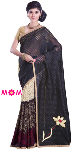 Exclusive Glitz Net Chanderi Saree