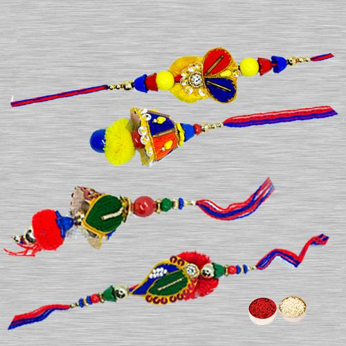 Enticing Family Rakhi for Bhaiya and Bhabhi
