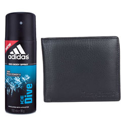 Exquisite Addidas Deo with Richborn Leather Wallet