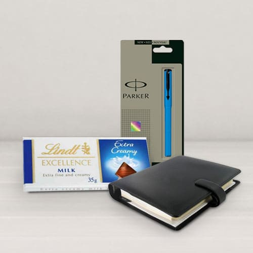 Combo of Planner Dairy with Pen N Chocos