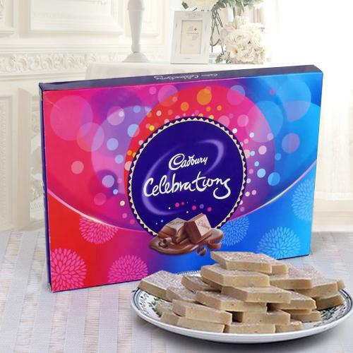 Haldirams Kaju Katli N Cadbury Celebrations Hamper