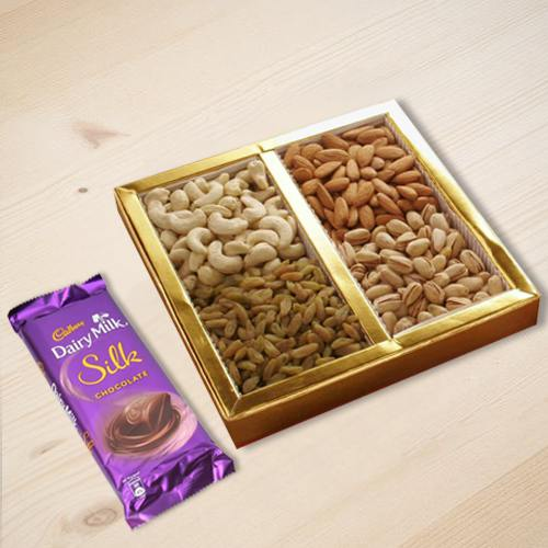 Dry Fruits with Cadbury Silk Chocolate
