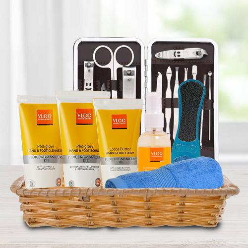 Gorgeous VLCC Foot Care Products in Basket
