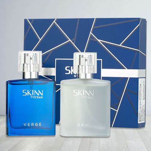 Impressive Titan Skinn Verge and Raw Fragrances Set for Men