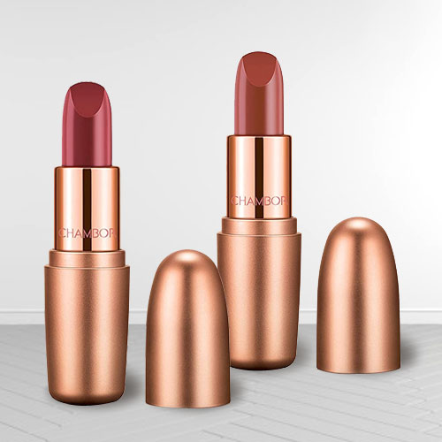 Exclusive Chambor Nutty Caramel N Dusty Rose Lipstick