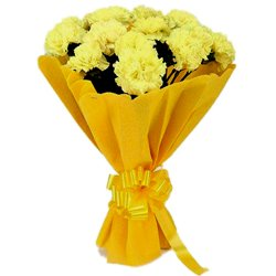 Captivating Display of Yellow Carnations