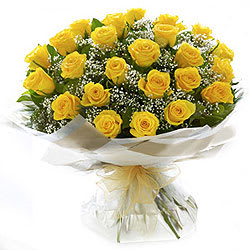 Charming Bunch of Yellow Roses