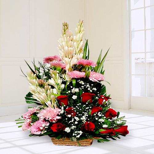 Cherished Arrangement of Mixed Flowers