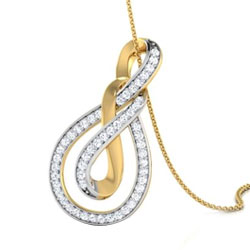 Tantalizing Ayla Double Knot Pendant with Chain