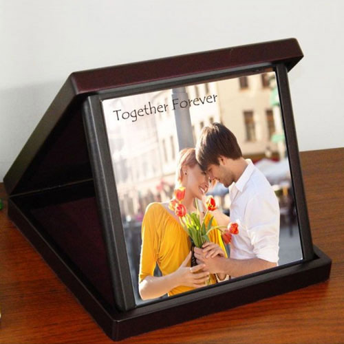 Standard Personalized Photo Tile in a Case