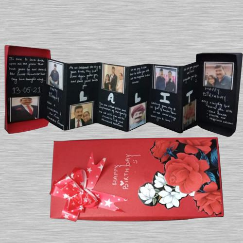 Graceful Personalized Folding Photo Greetings Card