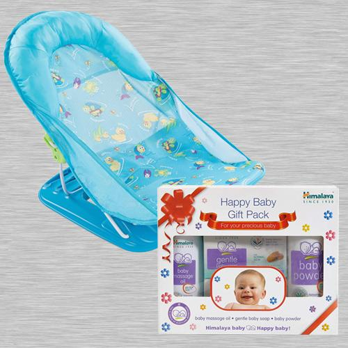 Wonderful Baby Bather with Himalaya Herbals Babycare Box