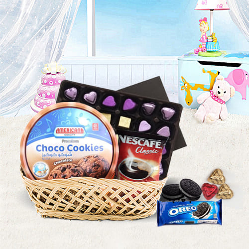 Exciting Party Special Chocolate Hamper Basket