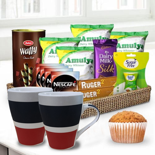 Remarkable Coffee N Chocolate Gift Basket for Him