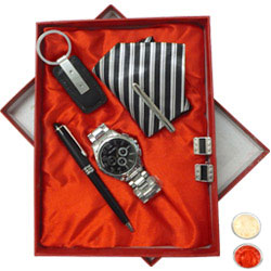 Gent�s Ode-to-Manhood Gift Hamper with free Roli Tilak and Chawal