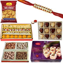 Lovely Rakhi Sweet and Spicy Hamper