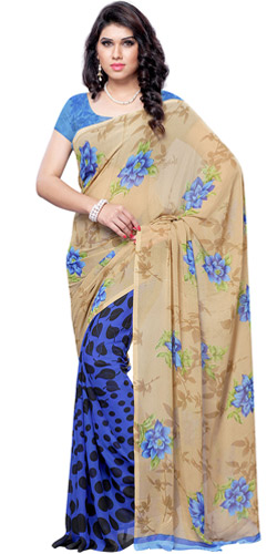 Wholesome Brightness Faux Georgette Saree