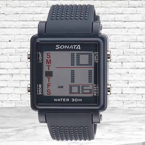 Remarkable Sonata Super Fibre Digital Mens Watch