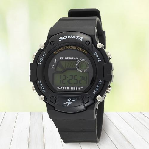 Striking Sonata Digital Mens Watch