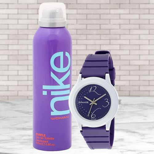 Marvelous Sonata Analog Womens Watch N Nike Deo
